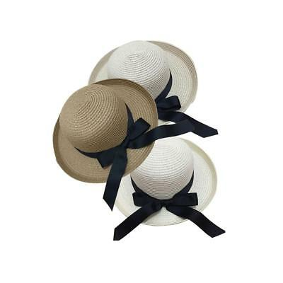 Chic Foldable Women's Floppy Straw Hat Wide Large Brim Sun Cap Summer Beach Bo%