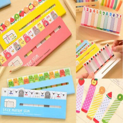 180PCS Animals Sticker Bookmark Marker Memo Flags Index Tab Sticky Notes