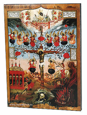 "BIG RARE RUSSIAN ORTHODOX ICON – FRUIT OF CHRIST""S PASSION.Early XIX cent.WOOD ."