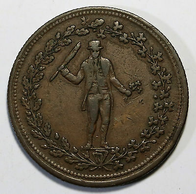Canada Pure Copper Preferable to Paper Halfpenny Token Irishman Breton 1009 RARE