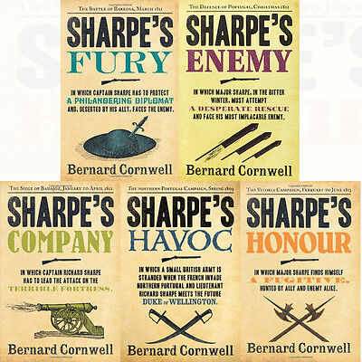 Sharpe Series Collection By Bernard Cornwell 5 Books Set Sharpe's Fury Paperback