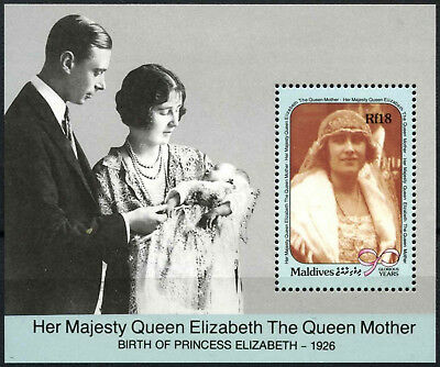 Maldive Islands 1990 SG#MS1399 Queen Mothers 90th Birthday MNH M/S #D54189