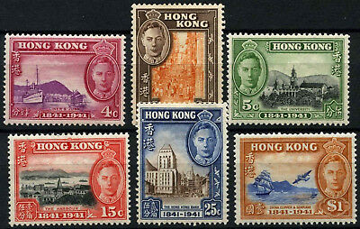 Hong Kong 1941 SG#163-168 KGVI, British Occupation Centenary MH Set #D53883