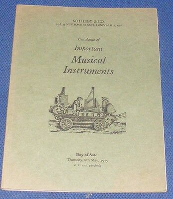Sotheby & Co Important Musical Instruments 8Th May 1975