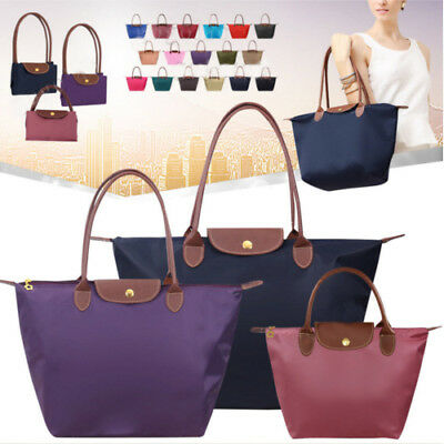 Ladies Large and Medium Foldable Nylon Summer Beach Tote Handbag Shopper Bag