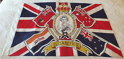 Fantastic 1953 Royal Vintage British Union Jack Flag (Old British Empire)