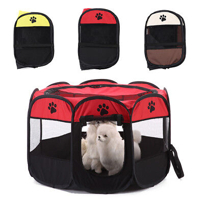 28'' Foldable Pet Dog Cat Playpen Tent Portable Oxford Fence Kennel Cage Fashion