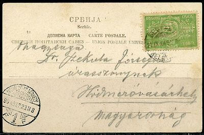 Serbia Belgrade Prince Michel Picture  Postcard Canceled  21.ix.04