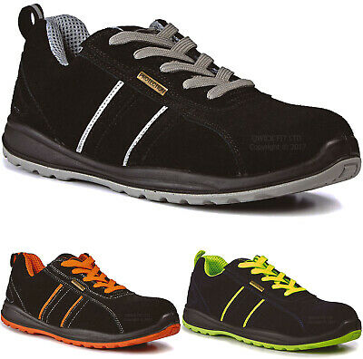 New Mens Ultra Lightweight Steel Toe Cap Work Boots Safety Ladies Shoes Trainers