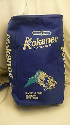 Kokanee beer insulated cooler shoulder strap 18 can columbia brewery