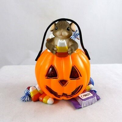 Charming Tails  Halloween  Mouse in Pumpkin - You're a Real Treat