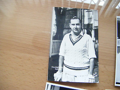Old Cricket Post Card M.c.cowdrey Kent .
