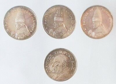 LOT 4 Pope Paul VI Vatican City Silver Coinage Coins MEDALS (1) 1975 (3) UNDATED