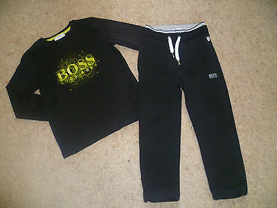 Genuine Boys Designer HUGO BOSS Long Sleeved Top & Joggers 3-4 Years VGC