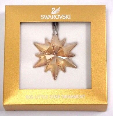 Scs Little Star 2017 Gold Christmas Ornament Swarovski Crystal   5268831