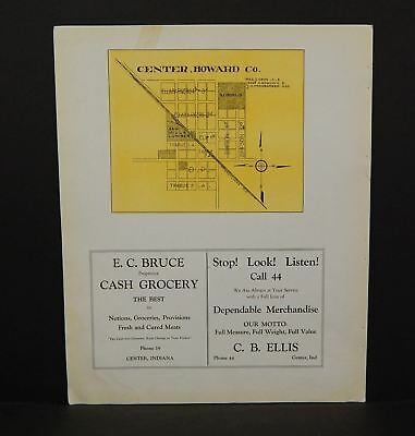 Indiana Tipton County Map Center Howard 1928  Y13#94