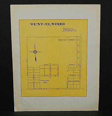 Indiana Tipton County Map Windfall City 1928 Y13#97