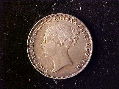 Great Britain Victoria Sixpence 1866 Die 31 Au