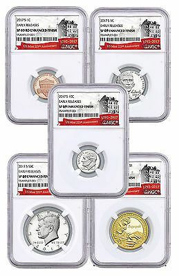 2017 U.S. 225th Anniversary Enhanced Uncirculated Coin Set NGC SP69 ER SKU48870