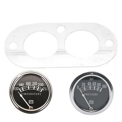 Speedway Stewart-Warner 2-1/16In Oil Pressure and Water Temp Gauge Set