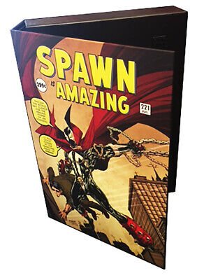 "3 - SPAWN Officially Licensed 1.5"" Comic Book Storage System Holds 15-20 Comics)"