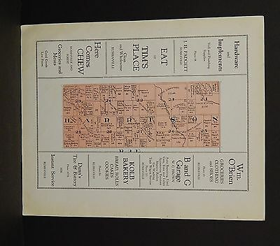 Indiana Tipton County Map Harrison Township 1928 Y14#08