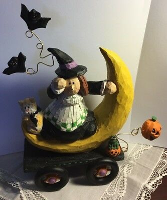 Eddie Walker Midwest Of Cannon Falls Halloween Witch On Moon A Moonlight Ride
