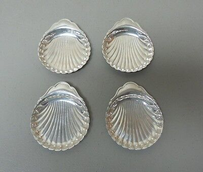 SET/4 VINTAGE STERLING SILVER SHELL CANDY / NUT / BUTTER DISHES, 120 grams