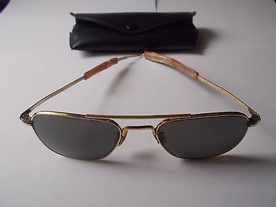 Vintage Old Welsh Aviator Sunglasses 1-10 12K GF 5-1/2 HGU-4/P w/ Case Gold Fill • $179.50