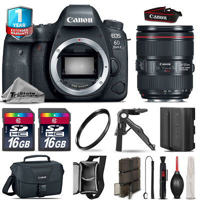 Canon EOS 6D Mark II DSLR Camera + 24-105mm IS II+ EXT BAT + 32GB + 1yr Warranty