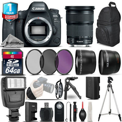 Canon EOS 6D Mark II DSLR Camera + 24-105mm STM + 1yr Warranty -Ultimate Bundle