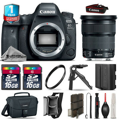 Canon EOS 6D Mark II DSLR Camera + 24-105mm STM + EXT BAT + 32GB + 1yr Warranty