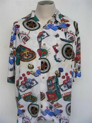Betty Boop Hawaiian Shirt XL Welcome to Las Vegas Casino Gambling Cards Vacation