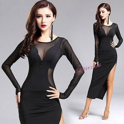 New Adult Women's Ballroom Dancewear Latin Rumba Cha Cha Performance Dance Dress