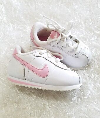 new products 3398d 11e69 Nike Little Cortez  07 White   Baby Pink Infant Toddler Girl Size 4