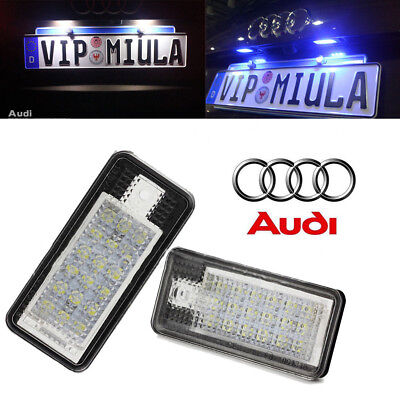 18 LED License Number Plate Rear Light Lamp for Audi A3 A4 B6 B7 A6 A8 Q7 A5