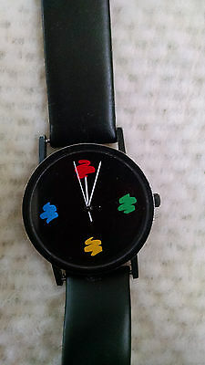 MOCA Museum of Contemporary Art Watch Moshe Elimelech design leather black band