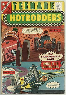 TEENAGE HOTRODDERS #14 & #15 (Ferrari, 1962 World 600, Dirt Track) Charlton 1965