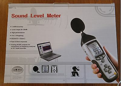 Pro Sound Level Meter Datalogger Standard St8852 30-130Db