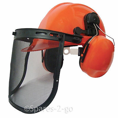 Chainsaw Forestry Safety Helmet Mesh Visor Cover Ear Muffs Head Hard Hat