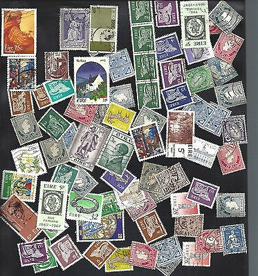 Lot of mixed Irish used stamps