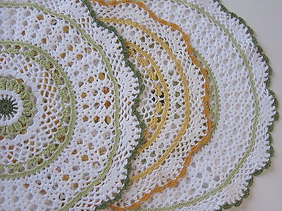 3 x Retro Vintage Crochet Doilies for Craft or Use