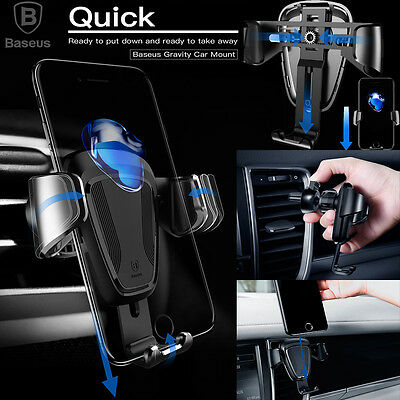 360° Universal Gravity Car Mount Air Vent Phone Holder Cradle for Cell Phone GPS