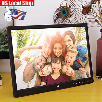15-Inch Digital Photo Frame with Music Multimedia Playback Touch Button Clock US