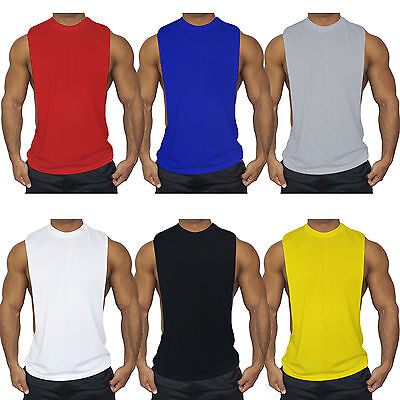 Men's Bodybuilding Tank Top Muscle T-Shirt Gym Tee Fitness Singlet Workout Vest