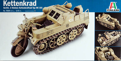 NSU Kettenkrad Typ HK 101 Sd.Kfz. 2 German Motorcycle 1:9 Model Kit Italeri 7404