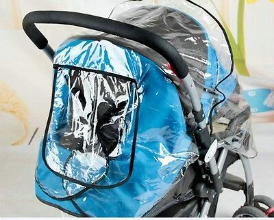 Universal Transparent Waterproof Buggy Pushchair Stroller Rain Cover Wind Shield