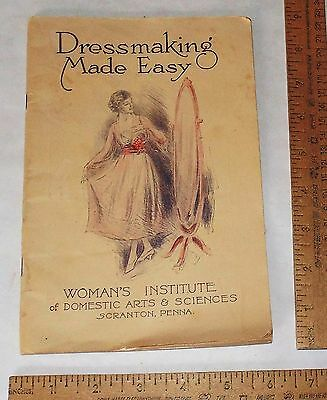 DRESSMAKING MADE EASY - WOMAN'S INSTITUTE of DOMESTIC ARTS & SCIENCES - pb