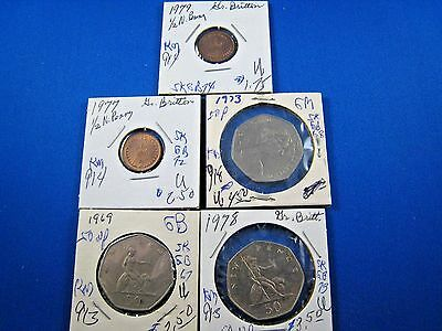GREAT BRITAIN - LOT OF 5 COINS     (skgbl2)