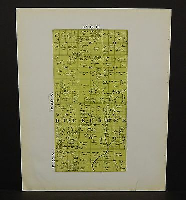 Indiana Tipton County Map Duck Creek Township 1928 Y14#16